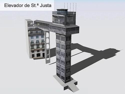 Elevador de Santa Justa - башня-лифт в Лиссабоне