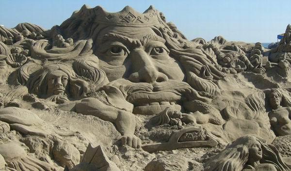 5-я выставка песочных скульптур в дюне Тоттори. Великобритания в Японии