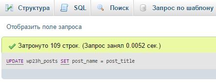 Поменять все ссылки на ЧПУ в WordPress (с транслитерацией)