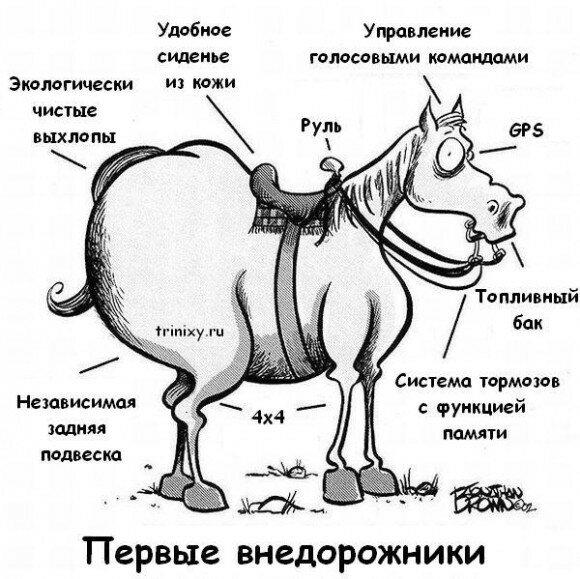 Конь педальный (история лошади)