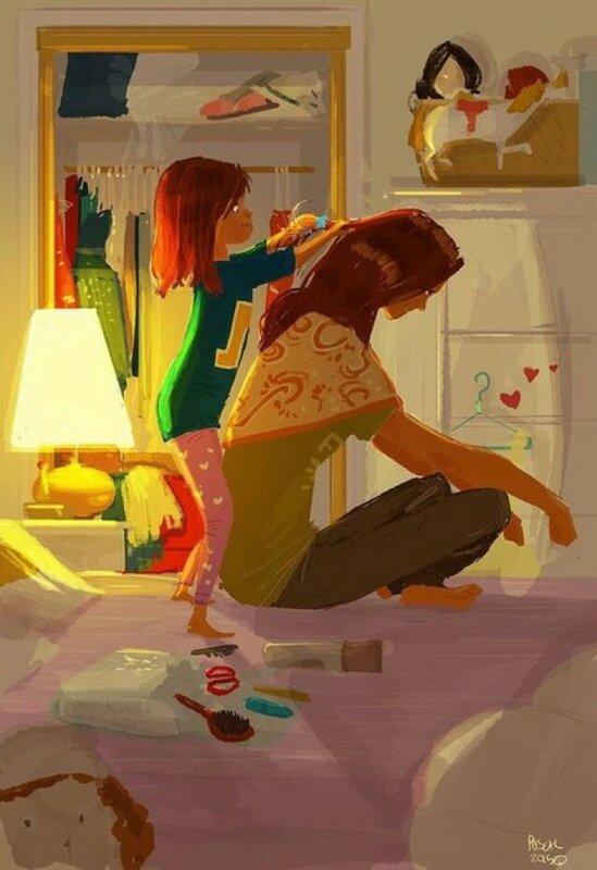 Хорошие рисунки! Иллюстратор видит красоту в обычной жизни