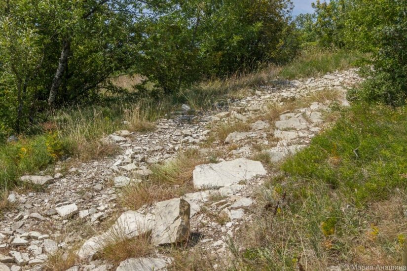 Каменистая дорога, горы
