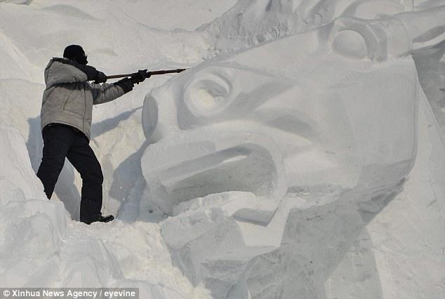 Фестиваль снежных скульптур в г. Чаньчунь, Китай
