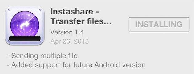приложение Instashare для iPhone и iPad - беспроводная передача файлов