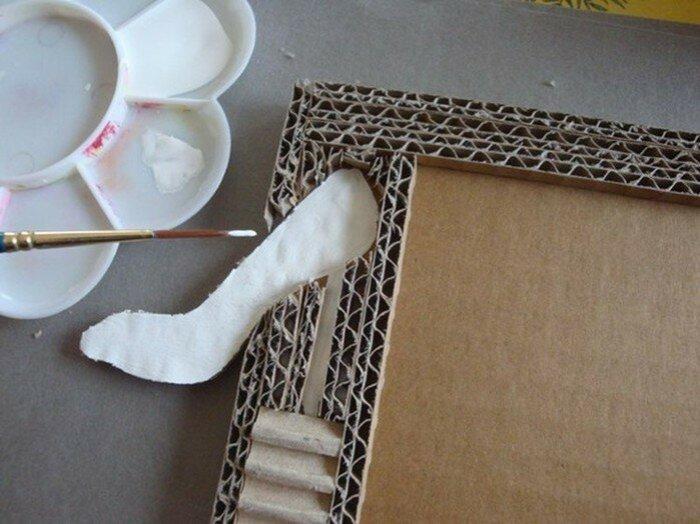 Рамка из картона. Поделки вместе с детьми