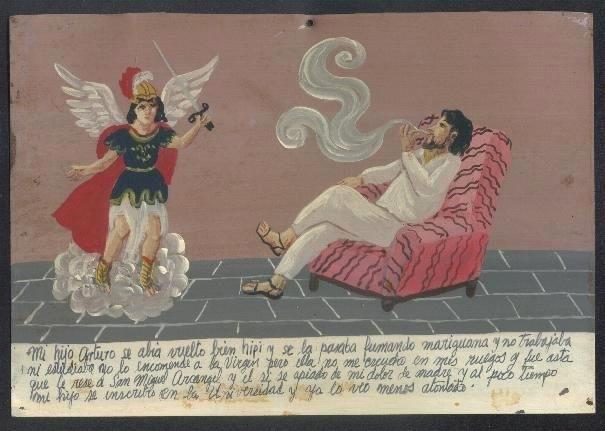 Ретаблос (Retablos) - благодарственные письма-картинки католическим святым