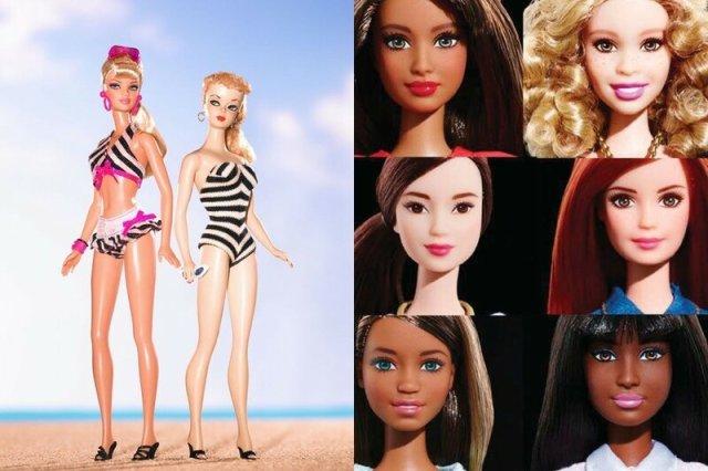 Эволюция Барби: как менялось лицо знаменитой куклы в 1959 2015 годах