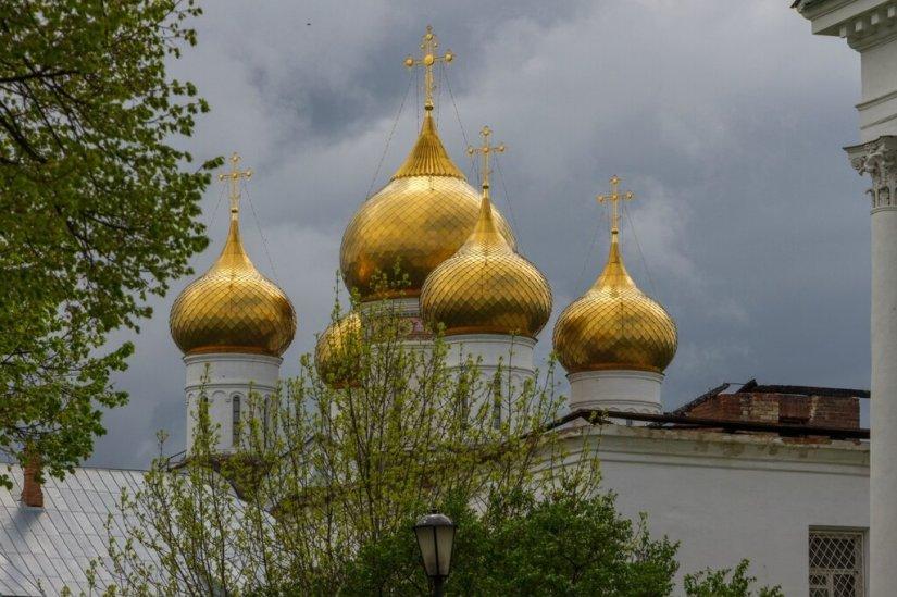 Купола Успенского кафедрального собора, Ярославль
