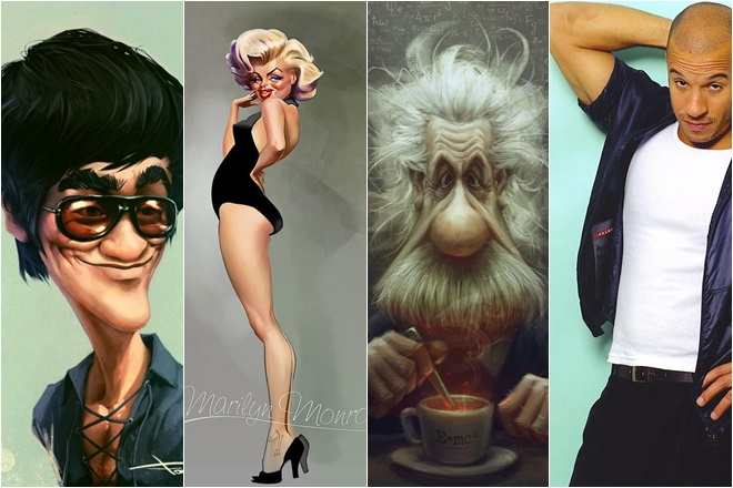Смешные карикатуры на знаменитостей и высказывания звезд