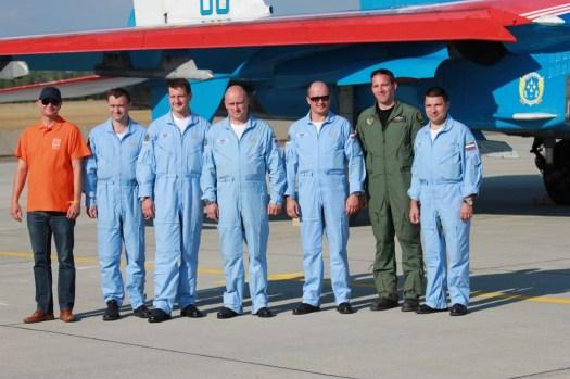 Летный состав Витязей с венгерскими товарищами