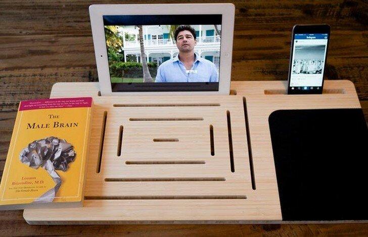 Подставка для книг, планшет, смартфон, плеер – поможет доска-держатель LapPad.