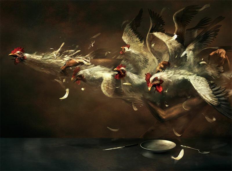 Ryohei Hase. Обалденная японская иллюстрация. 15 динамичных шизо-работ.