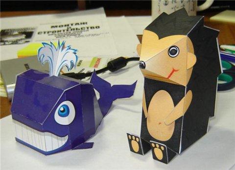 Бумажные игрушки Антона Филонова
