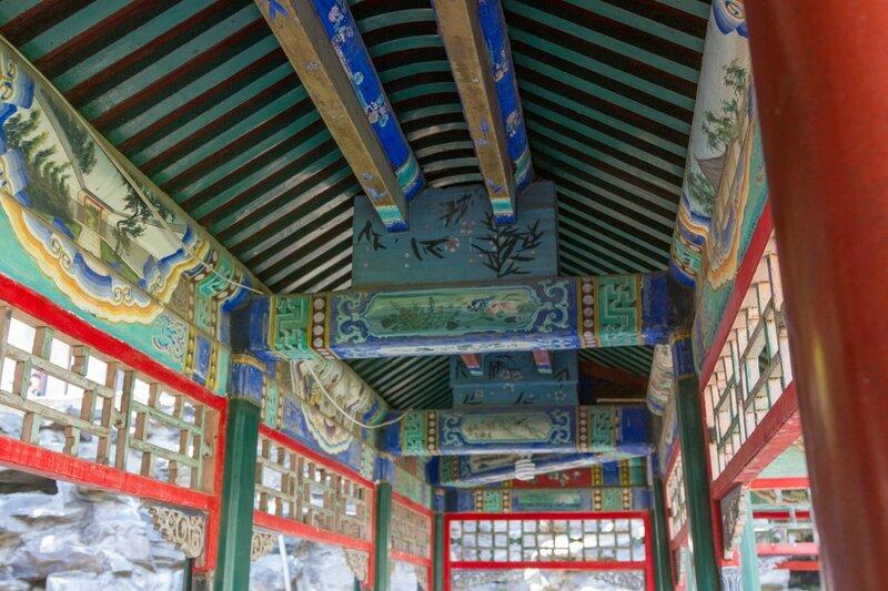 Потолок галереи, парк Сяншань, Пекин