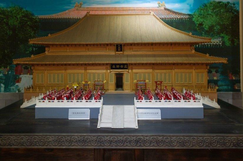 Церемония перед Залом Великого Успеха в эпоху Цин