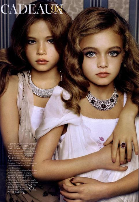 Самые маленькие модели журнала Vogue. Скандальные фотографии