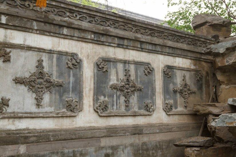 Деталь стены сада, резиденция князя Гуна, Пекин