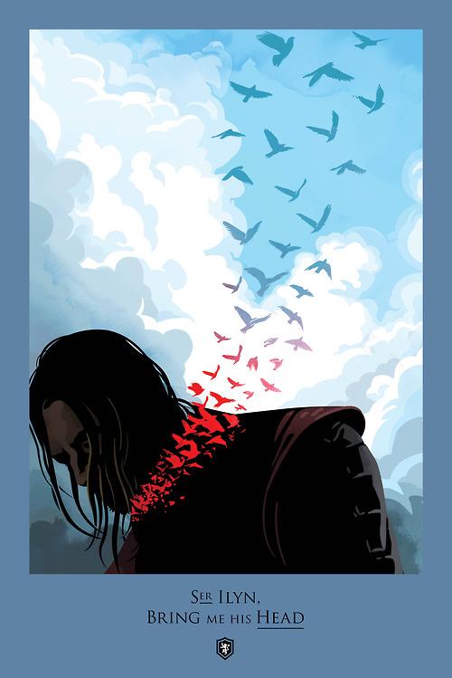 Роберт Болл / Robert M. Ball   Игра престолов / Game of Thrones   Серия постеров `Beautiful Death`