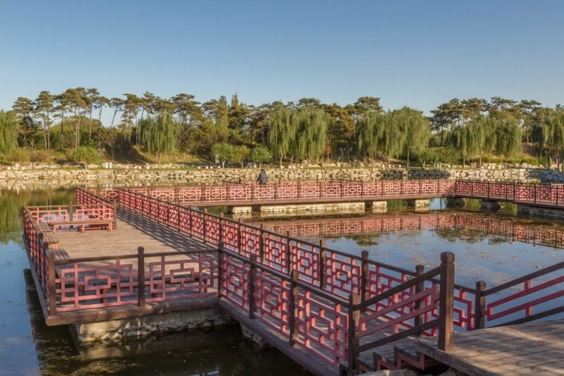 Мост, парк Юаньминъюань, Пекин