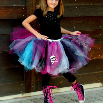 Monster High Tutu And Hair Bow Monster From Tutuscurlsandpearls