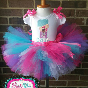 Doc Mcstuffins Birthday Outfit Doc From Curlyquetutu On Etsy