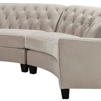 riemann curved tufted sectional sofas and loveseats living room furniture homedecorators com
