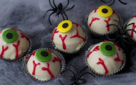 Receta de ojos sangrientos de Halloween