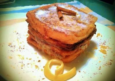 Recetas tarta de torrijas con mascarpone