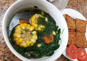 Image result for sayur bening daun kelor