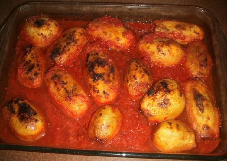 بطاطس محشية باللحمة المفرومة بالصور من Ola كوكباد