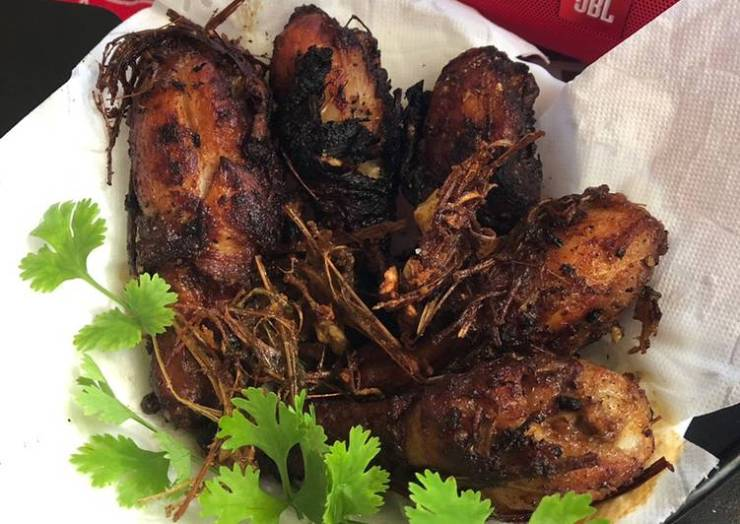 Fried chicken with lemon grass crisps by Marion's kitchen