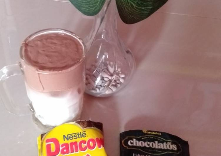 Resep Dalgona Coffee Chocolatos Dancow No Mixer Simpel Tapi