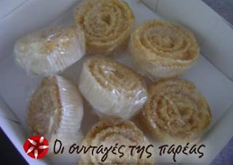 Cretan kserotigana (fried pastry strips) for weddings
