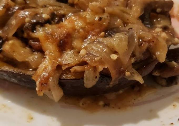 Stuffed Eggplant With Parmesan Cheese- Keto