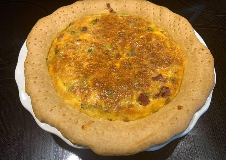 Quiche jambon/brocoli/poireaux/fromage