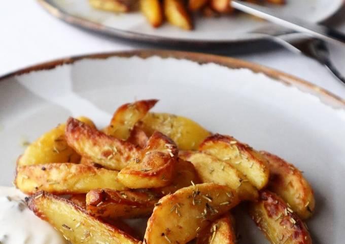 Kartoffelspalten mit Rosmarin 🌿🥔