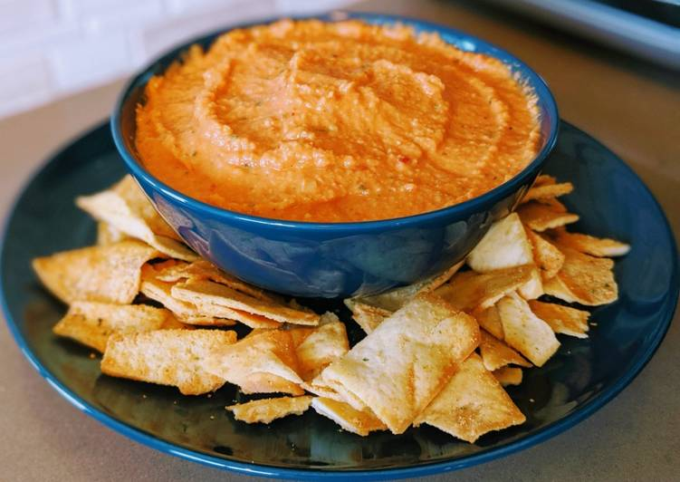 Roasted Red Garlic Hummus