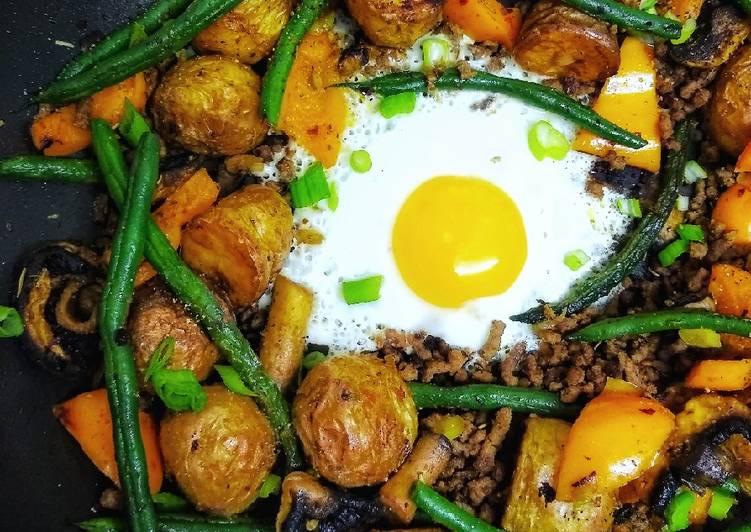 Left Over Roast Potato Piri Piri Beef Hash