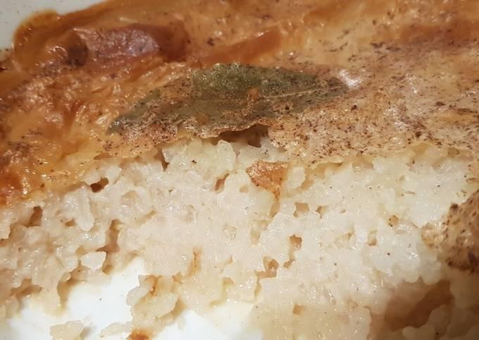 Vegan rice pudding