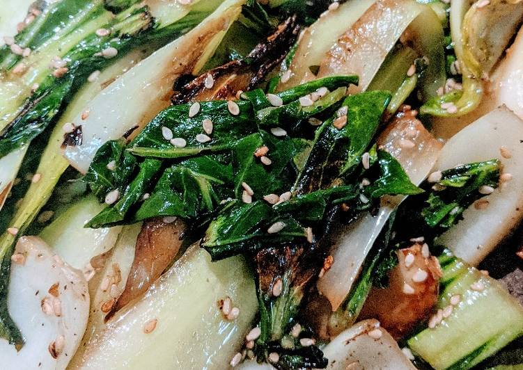 Sauteed Bokchoy with garlic and sesame