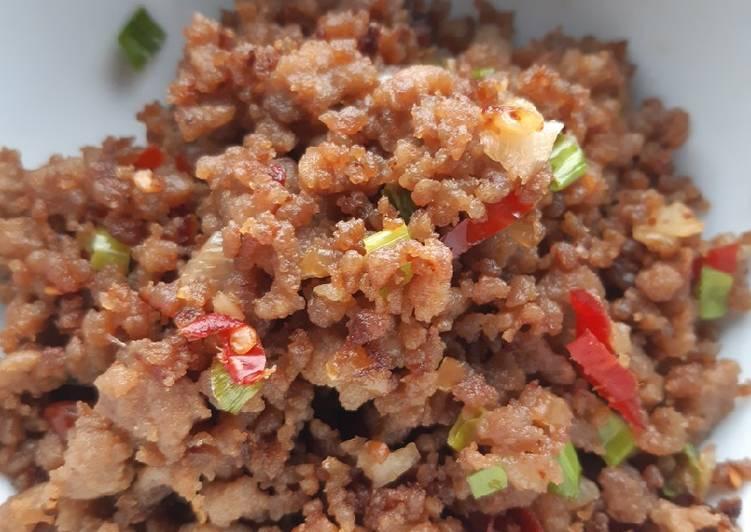 Resep Daging cincang gurih manis Bikin Laper
