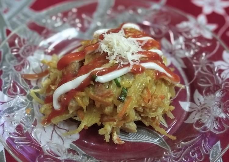 Omelette kentang keju