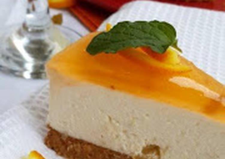 Orange-raisin ricotta cheese cake