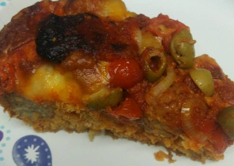 Meatball Cornbread Baked Casserole/ Cornbread Pizza