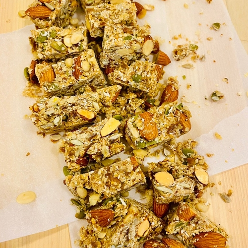 Sea Salt Almond Seed Bars   (No Bake, Vegan, Dairy Free)