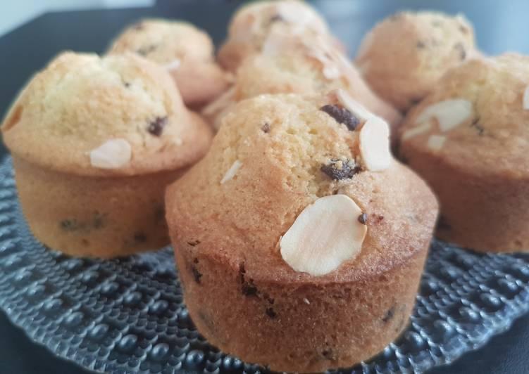 Muffins amande pépite de chocolat