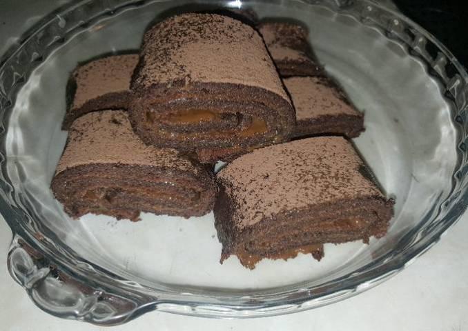 Brazo gitano de chocolate y remolacha