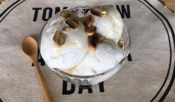 🧑🏽🍳🧑🏼🍳 Easy Homemade Thai Coconut Ice Cream Recipe • Eggless Ice Cream |ThaiChef food