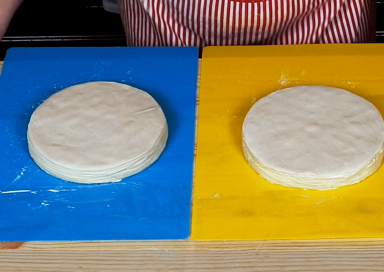 Greek Phyllo Pastry Sheets for Savoury Pies, version 3 (10+10 buttery layers)