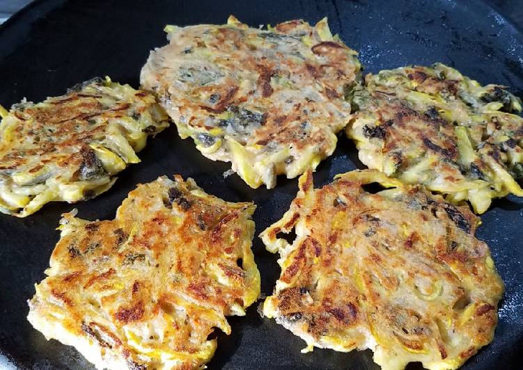 Yellow Squash Kamut sourdough fritters